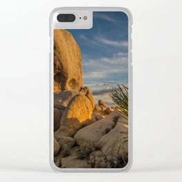 Joshua Tree Rock Formation Clear iPhone Case