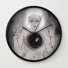 And There Was Light Wall Clock