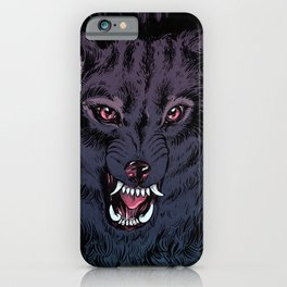 Wolf Howl Sketch iPhone Case