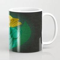 power ranger Mugs featuring Green Iron Ranger by Joshua Epling