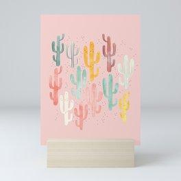 Long Multicolored Cacti Mini Art Print