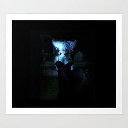 Blue Vamp Art Print