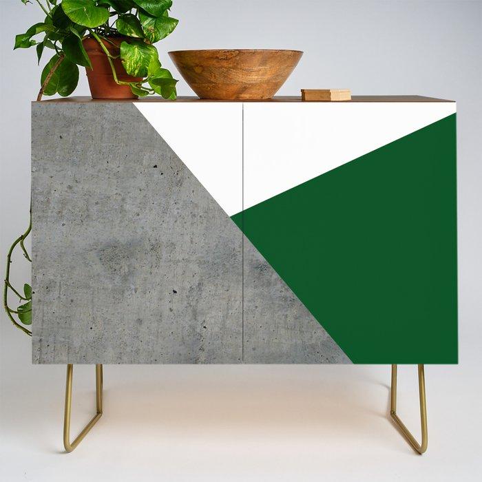 Concrete Festive Green White Credenza