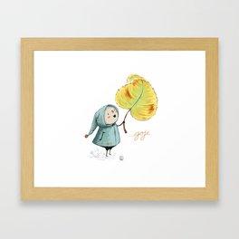 Goji and the leaf Framed Art Print