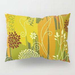Boho Floral Pattern Var. 4 Pillow Sham