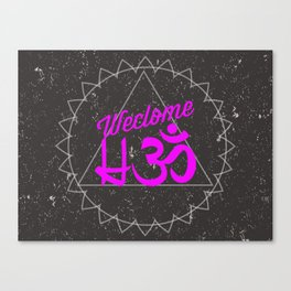Welcome HOHM Mat Canvas Print