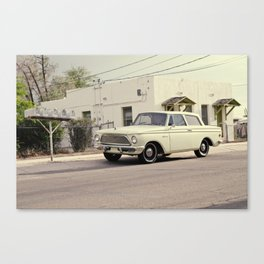 1963 Rambler American Sedan - Vintage Car - Barrio Blue Moon, Tucson, AZ Canvas Print