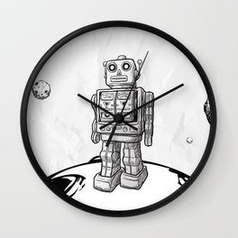 Mr. Robot On The Planet Wall Clock