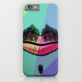 Colorful Mustache iPhone Case