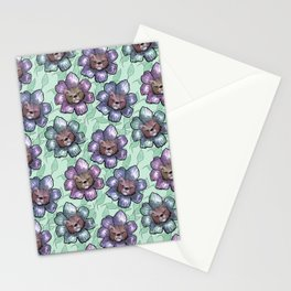 floral kittens Stationery Cards