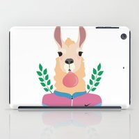 lama iPad Cases featuring Sport Lama by Holanes