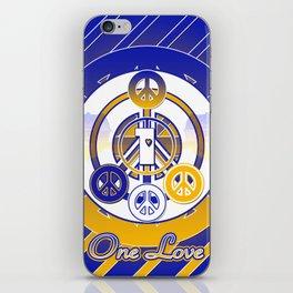 One Love (Blue) iPhone Skin