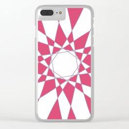 Red Crystal Clear iPhone Case