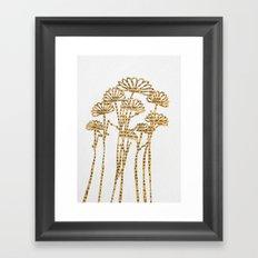 PAPERCUT FLOWER 2 Framed Art Print