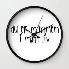 SKAM - Isak & Even - Du er mannen i mitt liv Wall Clock