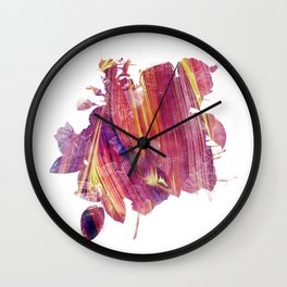 Red mask flow Wall Clock