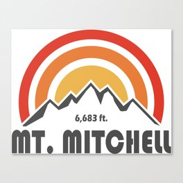 Mount Mitchell Canvas Print
