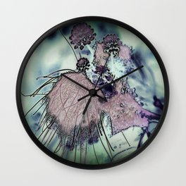 Mysterious Blossom - Liquid Winter Wall Clock