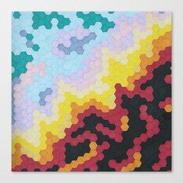 Nebula Hex Canvas Print