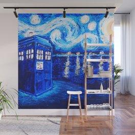 Tardis Starry Art Night Wall Mural