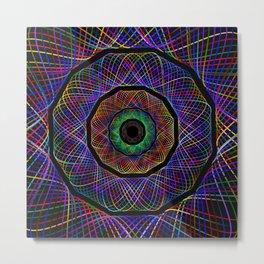 psychedelic Metal Print