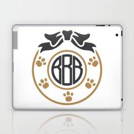 dog monogram Laptop & iPad Skin