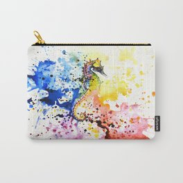 Underwater rainbow : the seahorse Carry-All Pouch