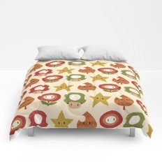 mario items pattern Comforters