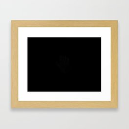 No Words Hand Print Framed Art Print