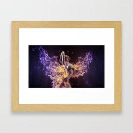 Nude Firy Babe | HD Design Framed Art Print