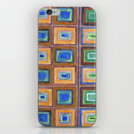 The two Sides of a Check Pattern iPhone Skin
