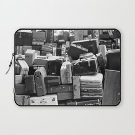 TOWER OF LUGGAGE in Black & White Laptop Sleeve