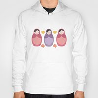 russian Hoodies featuring Russian Dolls by ItsJessica