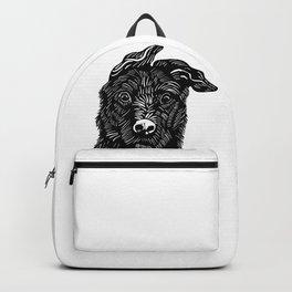 Dog linocut Backpack