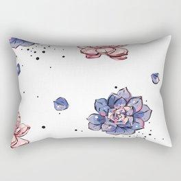 Succulents seamless pattern Rectangular Pillow