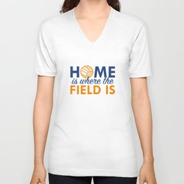 Home Is Where The Field Is Unisex V-Neck