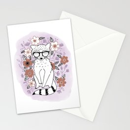 Raccoon in a Garden Stationery Cards