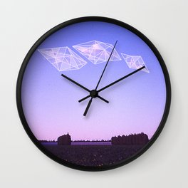 Three Sky Diamonds  Wall Clock