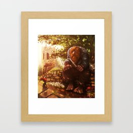 The troll and the gnome Framed Art Print