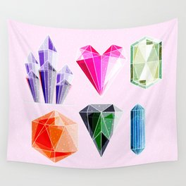 Crystal and Gemstones Vol 2 Wall Tapestry