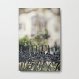 New Orleans Garden District Fence Metal Print