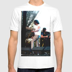 Nick Valensi - The Strokes Mens Fitted Tee MEDIUM White