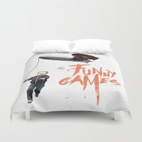 games Duvet Covers featuring Funny Games by inbloom design