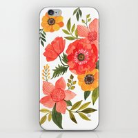 power iPhone & iPod Skins featuring FLOWER POWER by Oana Befort