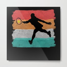 Tennis Player Woman Girl Metal Print