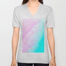 Pastel Motion Vibes - Pink & Turquoise #abstractart #homedecor Unisex V-Neck