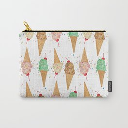 I Scream Pattern Carry-All Pouch