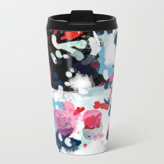 Paige - abstract painting hipster home decor trendy color palette art gifts Metal Travel Mug