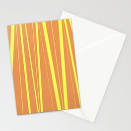 Orange And Yellow Stripes - Abstract Sunshine Stationery Cards