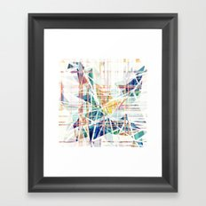 GeoGlitch Framed Art Print